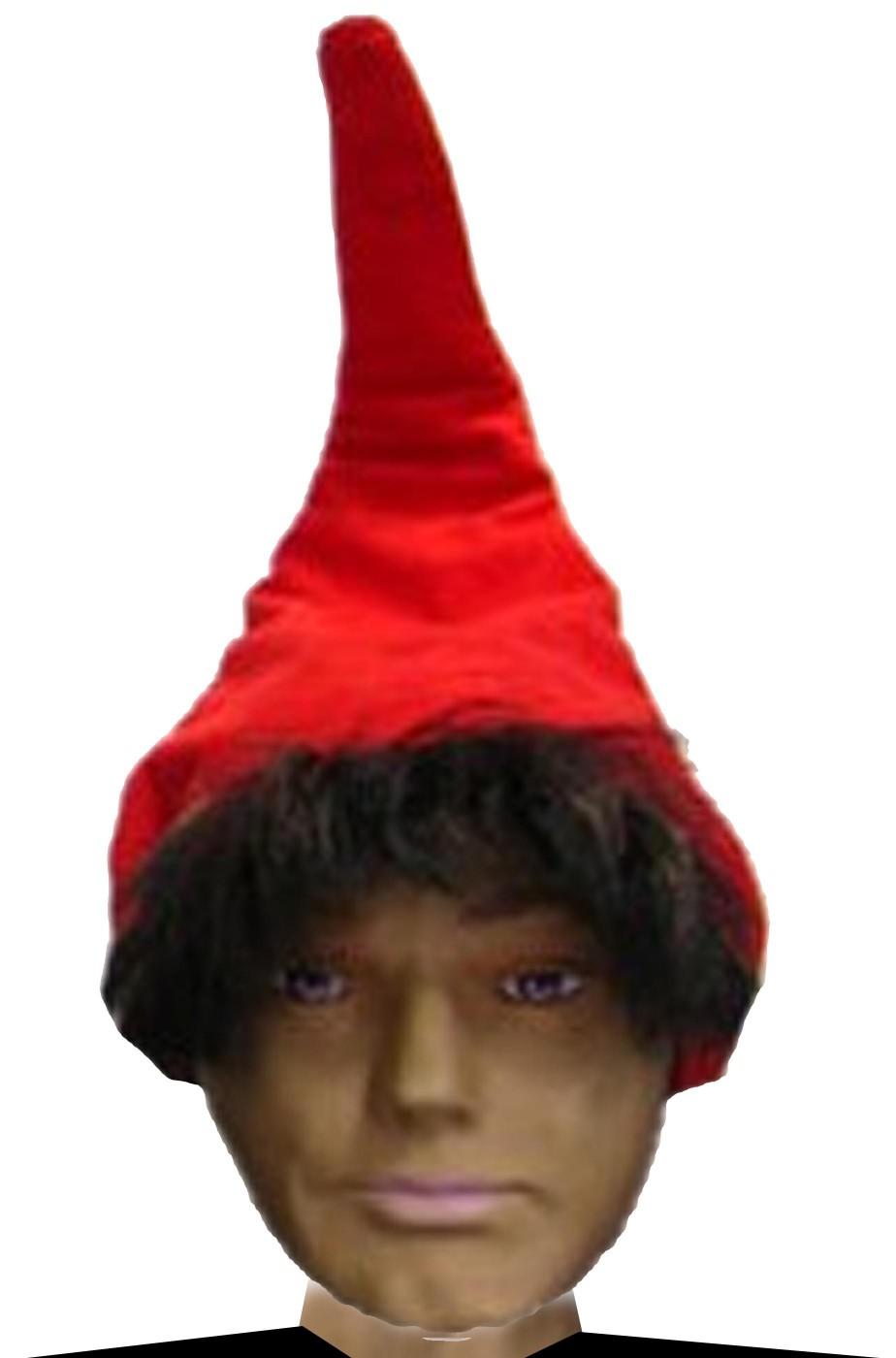 Cappello da nano di Biancaneve gnomo adulto rosso con filo di ferro 35f0e280114a
