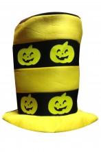 Cilindro halloween giallo con zucche