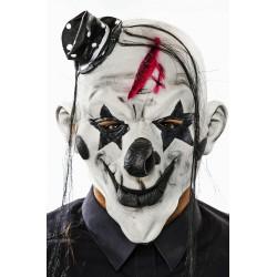 Clown Horror maschera con capelli