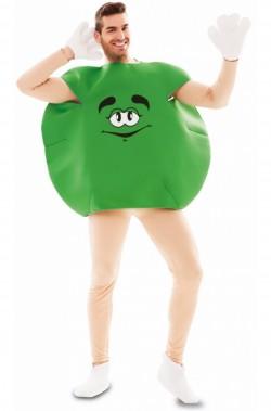 Costume adulto unisex pastiglia di cioccolato verde