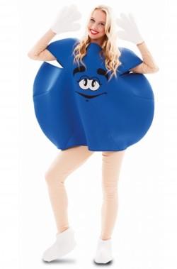 costume adulto unisex pastiglia di cioccolato blu
