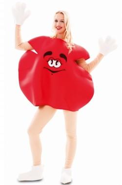 costume adulto unisex pastiglia di cioccolato rossa