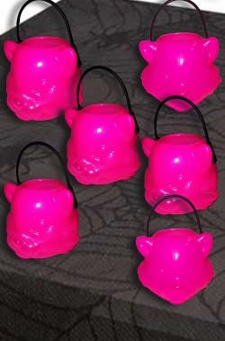 Coppetta Porta dolcetti segnaposto Halloween 4cm gatti rosa