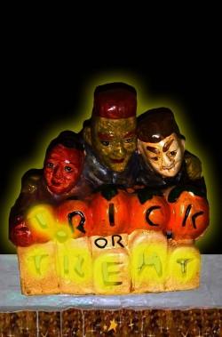 Portacandela halloween in ceramica Trick or Treat