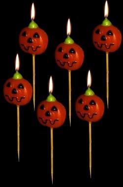 Stuzzicadenti segnaposto candelina Halloween a zucca