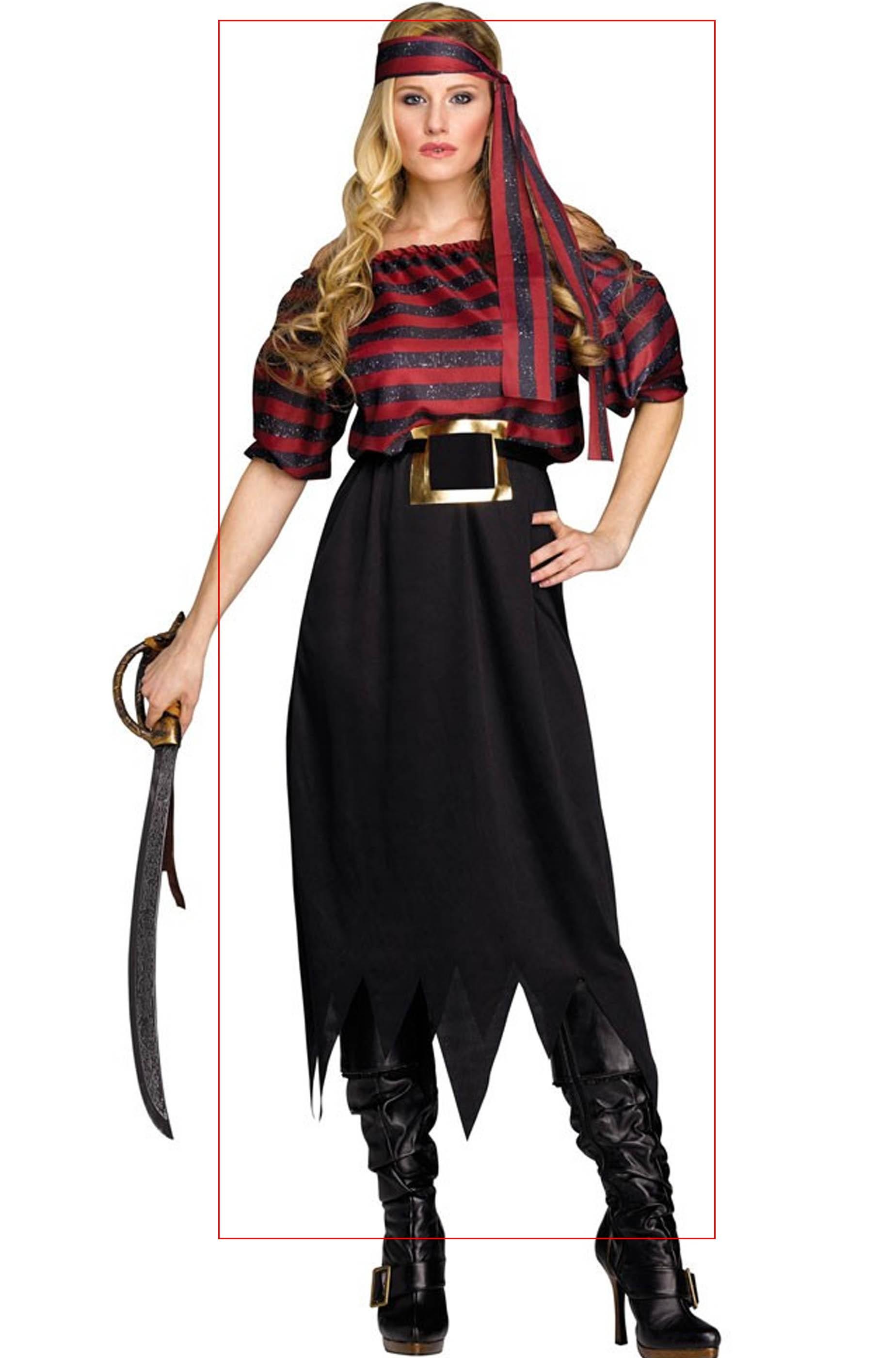 O Vestito Pirata Di Carnevale Caraibi Halloween Donna Dei Adulta BoCWxerd