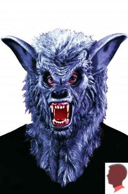 Maschera lupo in vinile con pelo