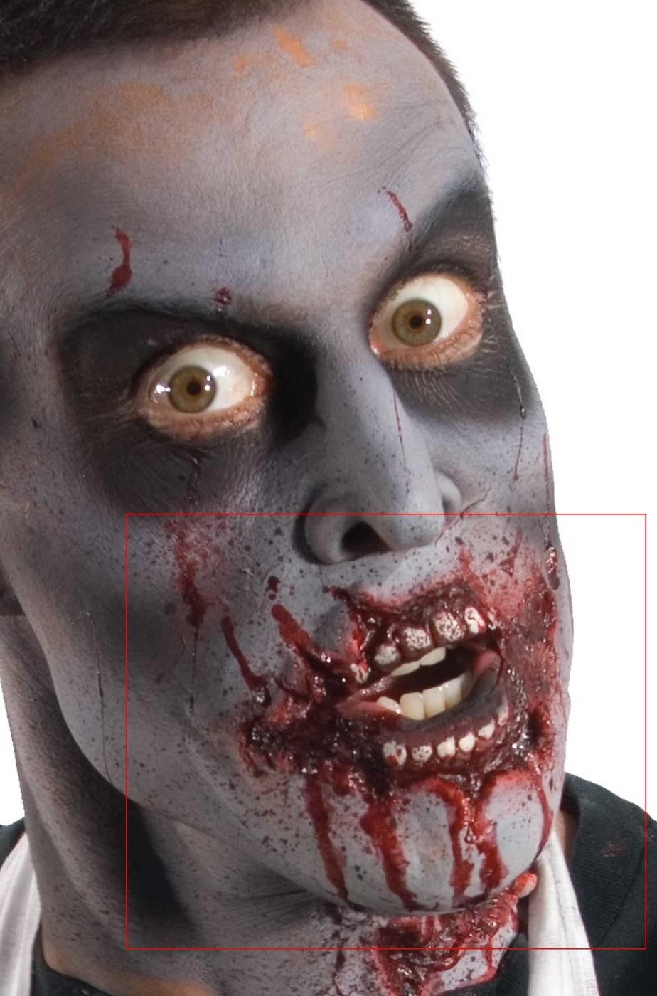 FX Maschera in lattice bocca horror Zombie con denti