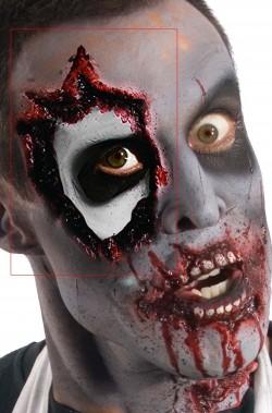 FX Maschera in lattice contorno occhio horror Zombie