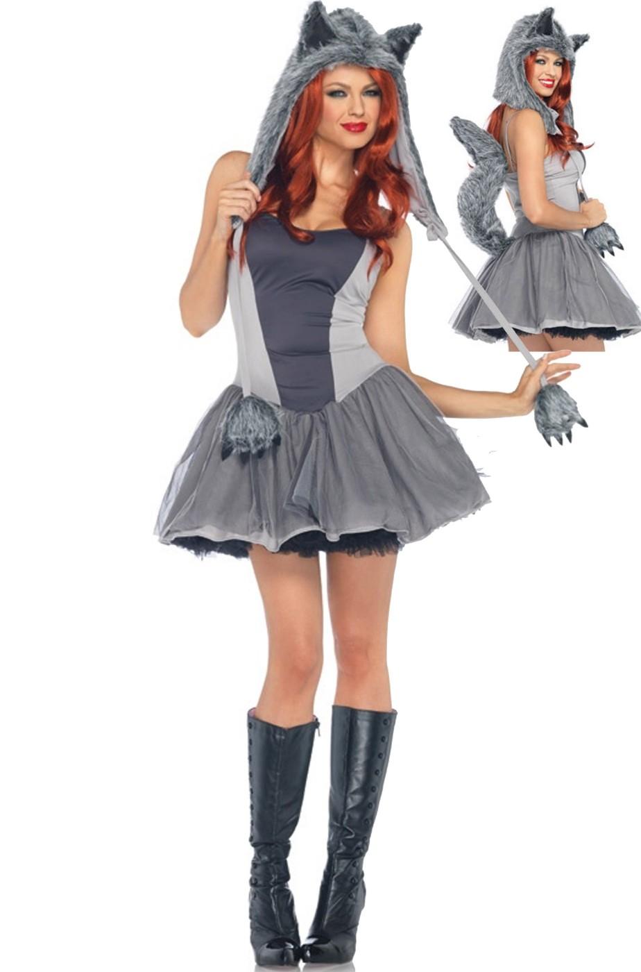 Costume donna lupo grigio o husky