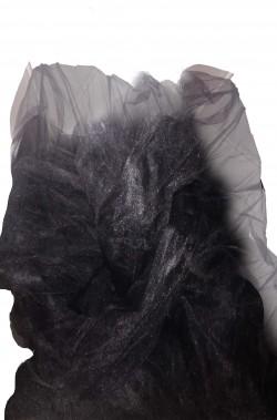 Tulle nero per velo da strega, fondali, allestimenti Halloween