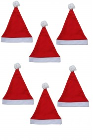 Pacchetto offerta sei cappelli da Babbo Natale Economici