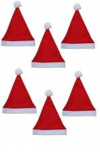 Paccheto offerta sei cappelli da Babbo Natale Economici