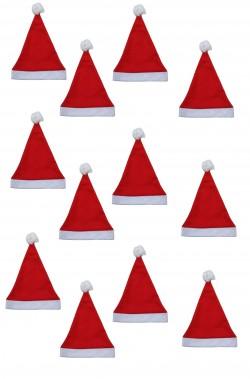 Pacchetto offerta dodici cappelli da Babbo Natale Economici