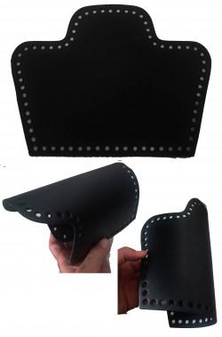 Patella in pelle nera per realizzare spallacci di armatura Cosplay