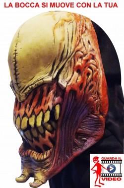 Maschera Alien qualità professionale.EFFETTO BOCCA IN MOVIMENTO