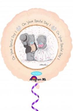 Palloncino in foil con stampa olografica matrimonio