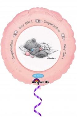 Palloncino in foil con stampa olografica nascita bambina