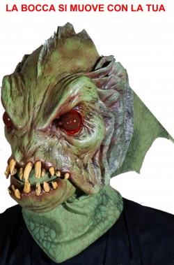 Maschera Mostro della laguna horror qualità professionale. BOCCA IN MOVIMENTO
