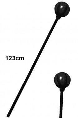 Bastone mago negromante nero Malefica malefizia con sfera. 123cm lungh.Sfera 10cm diam. in plastica