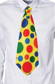 Cravatta finta grande cravattone maxi clown