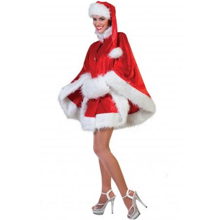 Mantella o poncho da Babba Natale con Cappello