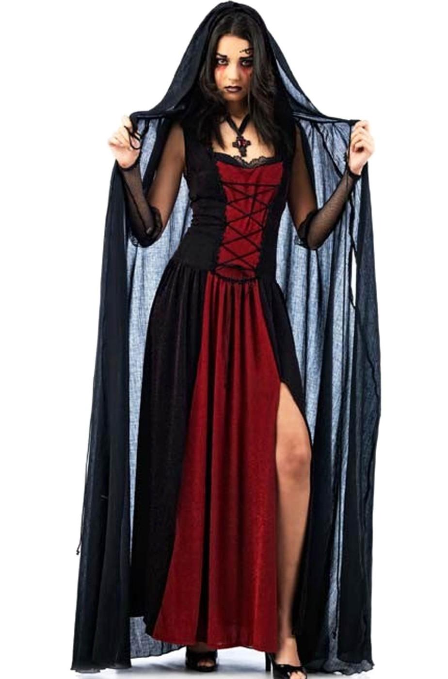 Mantello nero con cappuccio 140cm taglia XL