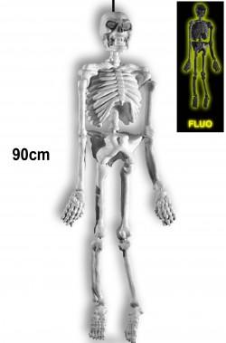 Scheletro fosforescente da appendere 91cm