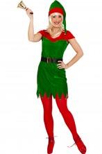 Costume abito Elfo donna di Babbo Natale