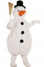 Mascotte Pupazzo Di Neve con testona