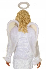 celeste-blu Basku 2020Ultime ali dangelo 3D unisex Halloween Mardi Gras accessorio creativo piuma angelo ali costume costume Cosplay forniture per Halloween festa di Natale