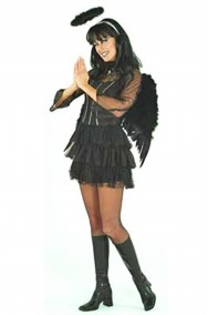 Costume donna angelo nero