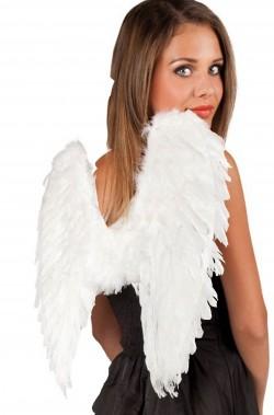 Ali bianche da angelo di piume 50x50cm