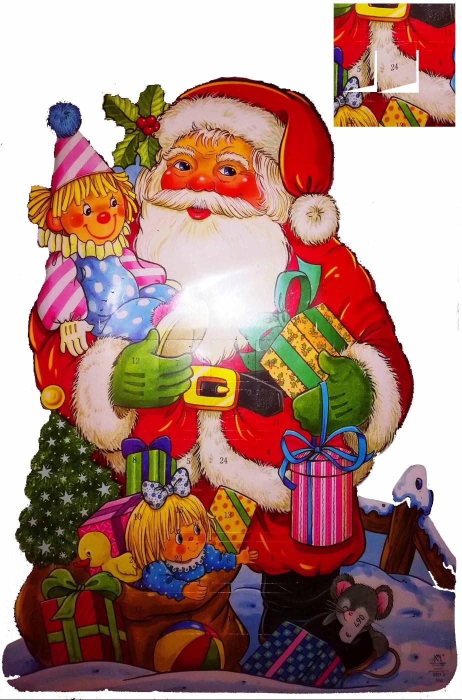 Calendario dell'Avvento del Natale tridimensionale in cartoncino