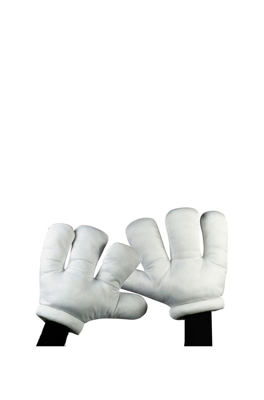 Lunghezza del gomito adulto Dalmata Guanti Bianco//Nero a Pois Costume Accessorio
