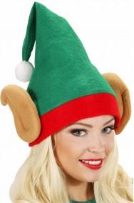 Cappello Elfo di babbo natale con orecchie