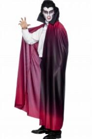 Mantello adulto rosso sfumato con collare 145cm