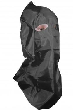 Cappuccio da boia nero in stoffa per cosplay, medievali