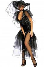 Costume donna Vedova nera dama gotica sposa cadavere