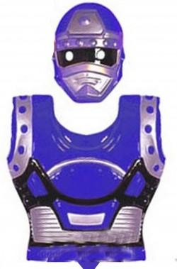 Set Power Ranger armatura pettorale e maschera bambino blu