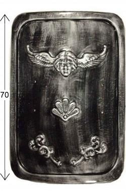 Scudo romano rettangolare in plastica Scudo antico romano 46cm x 67cm