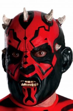 Maschera Darth Maul di Star Wars 3/4 in vinile ADULTO