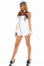 Costume donna Gangster Bianco