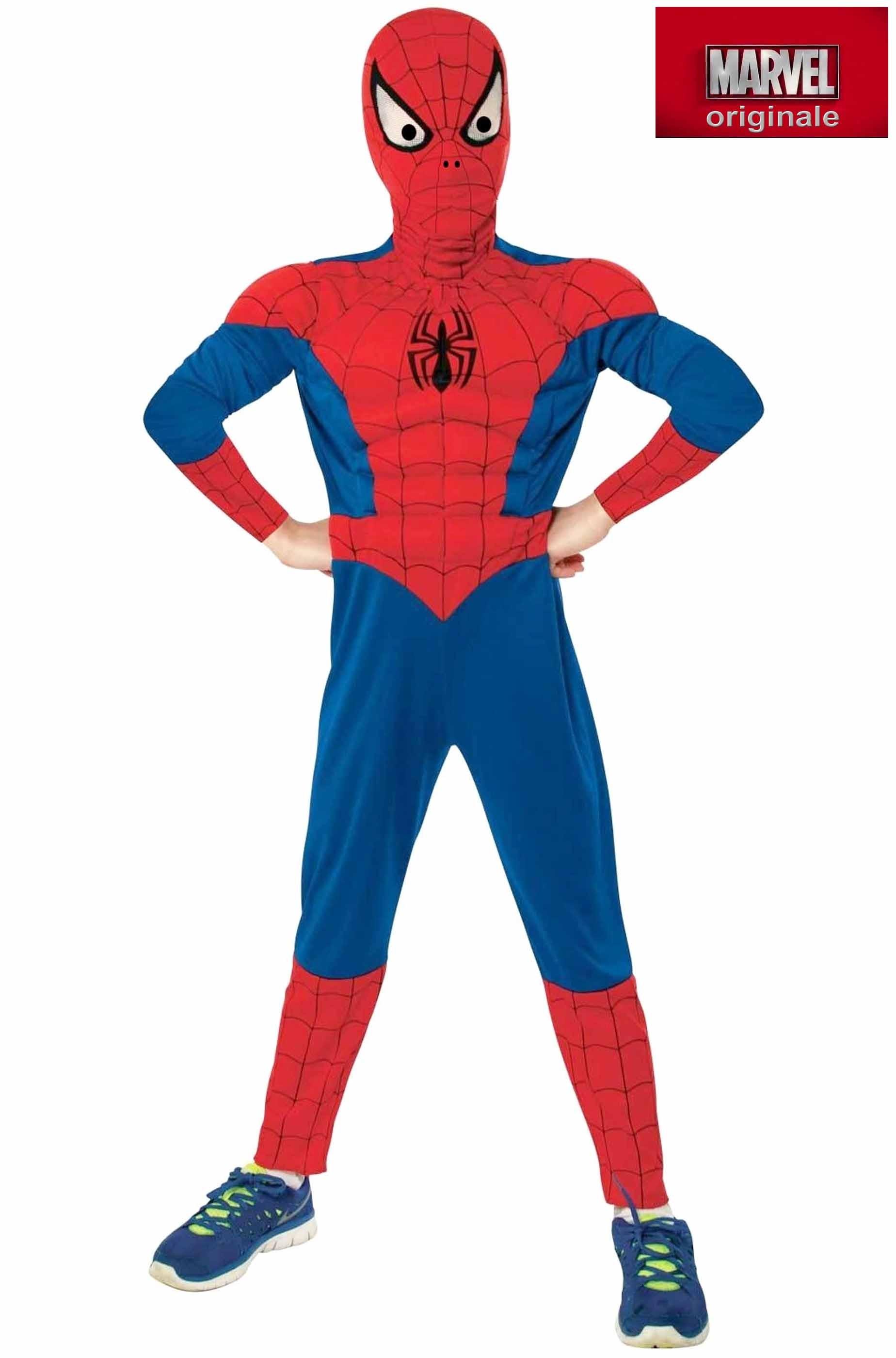 dettagli per meglio colore attraente Costume carnevale Bambino Spiderman Originale De Luxe con muscoli