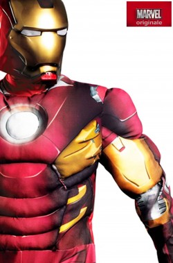 Costume Iron Man Adulto Mark VII con muscoli Taglia XXL