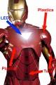 Costume Iron Man Realistico Con Parti IN PLASTICA di Amatura