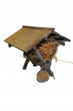 Ambientazione presepe: Capannetta grande per fieno in legno