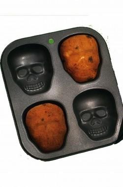 Stampo per biscotti Halloween teschio antiaderente