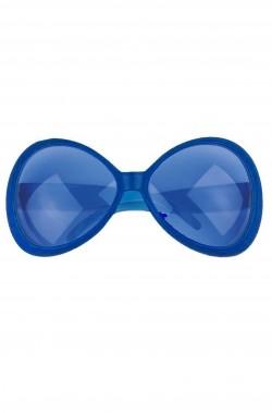 Occhiali montatura grande a maschera Anni 70 blu