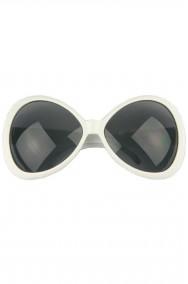 Occhiali montatura grande a maschera Anni 70 bianchi